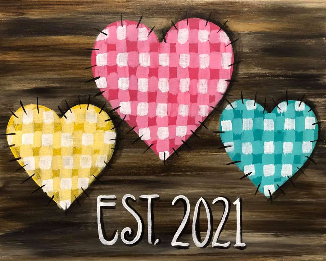 Gingham Hearts