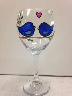 Glass Class- Love Birds
