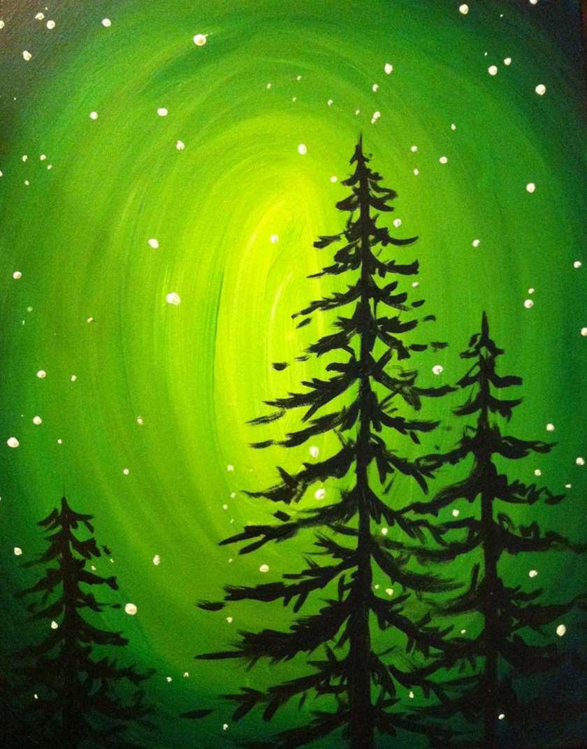 Glowing Evergreens
