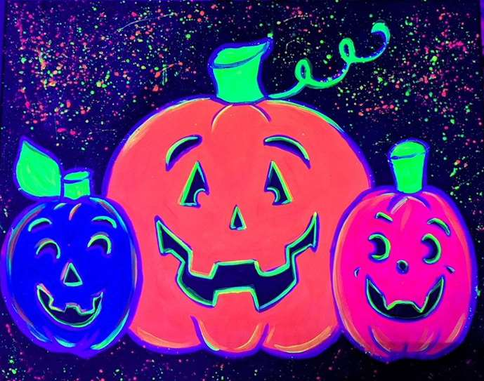 Glowing Jolly Jack-O-Lanterns