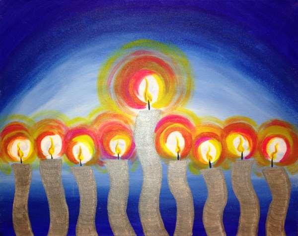 Glowing Menorah