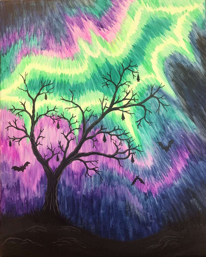 Blacklight Painting! Much Fun!