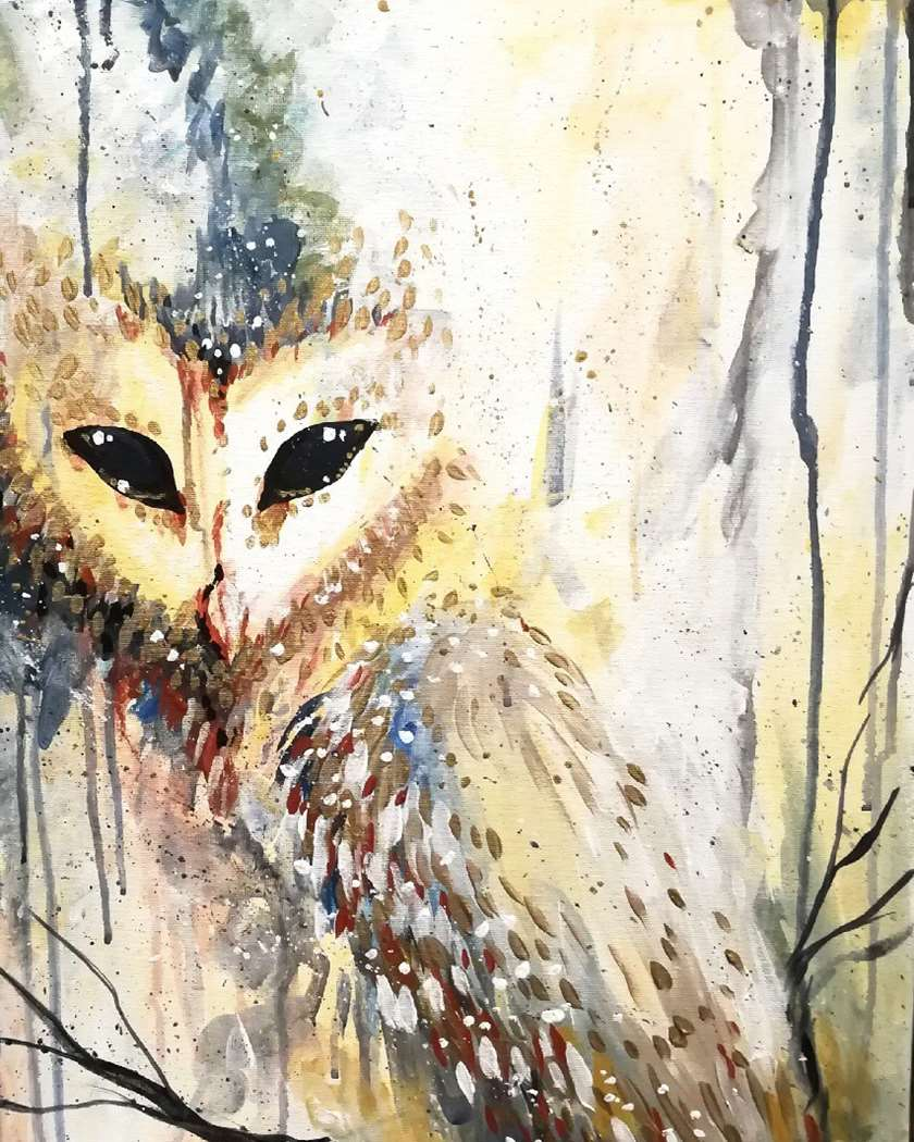 ANIMAL ART!!!  Who couldn't use a little more Owl-Like wisdom in their house...