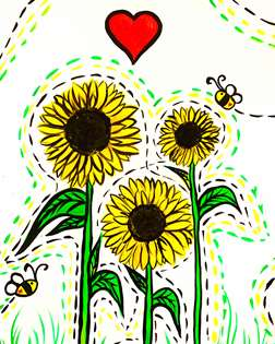 Golden Sunflower Spring