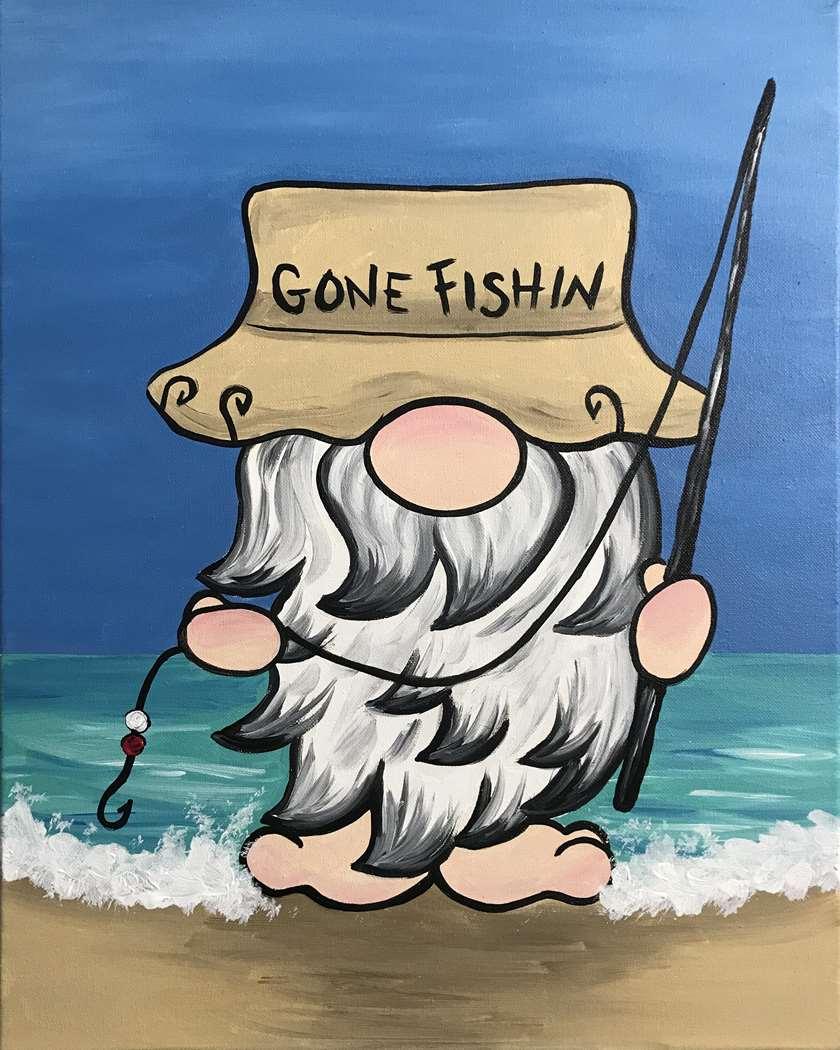 IN-STUDIO EVENT- GONE FISHIN' GNOME