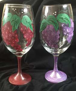 Grapes On A Glass