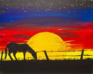 Grazing at Sunset
