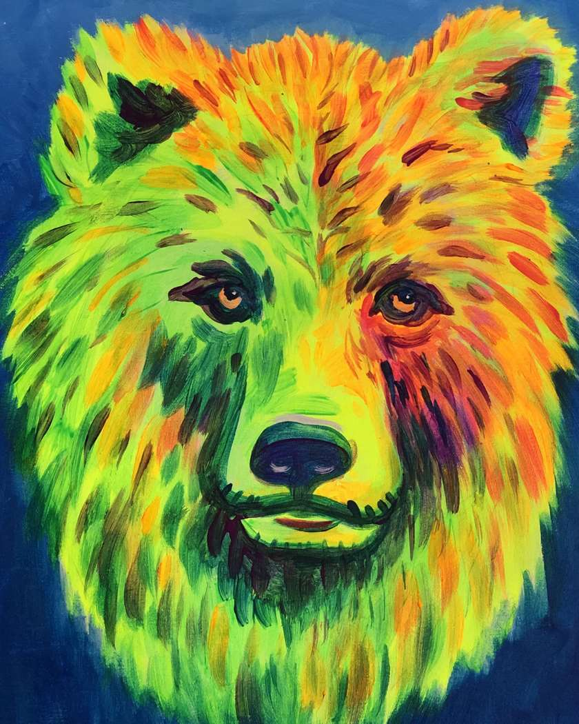 "Black light Spring Break Special! ""Grizzly Glow"""
