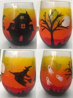 Halloween Haunting on Glass