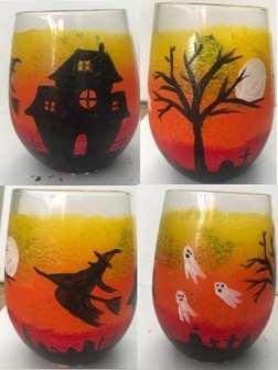 Halloween Haunting on Glass