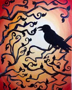 Puyallup Public Library Fall Program Painting!