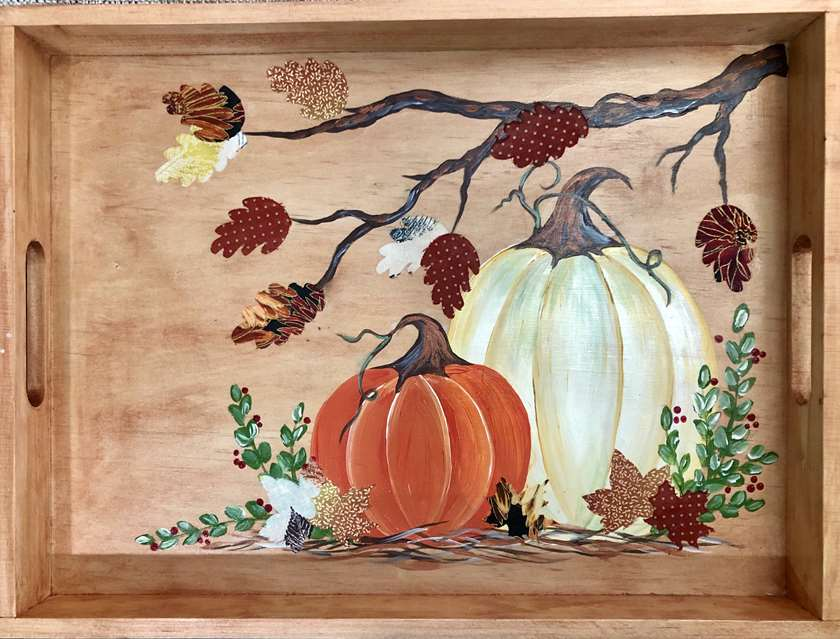 Harvest Blessings Serving Tray