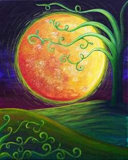 Harvest Moon in Dark