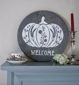 Harvest Pumpkin-Wood Sign