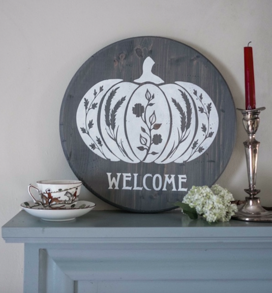 Harvest Pumpkin-Wood Sign