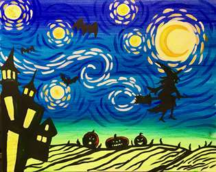 Haunted House Starry Night