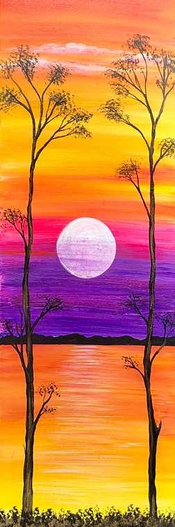 Hazy Amber Sunset