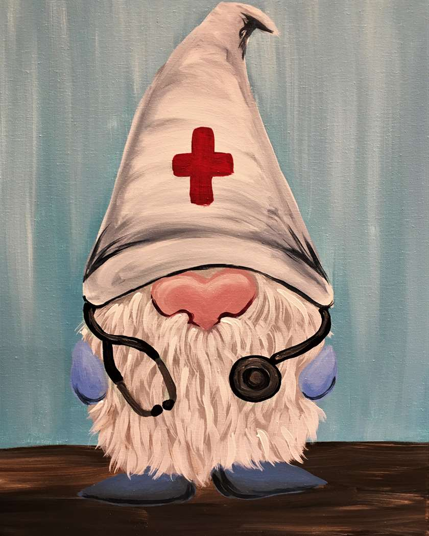 Healthcare Gnome - National Nurses' Day! (pre-sketched)