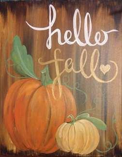 Hello Fall Pumpkins