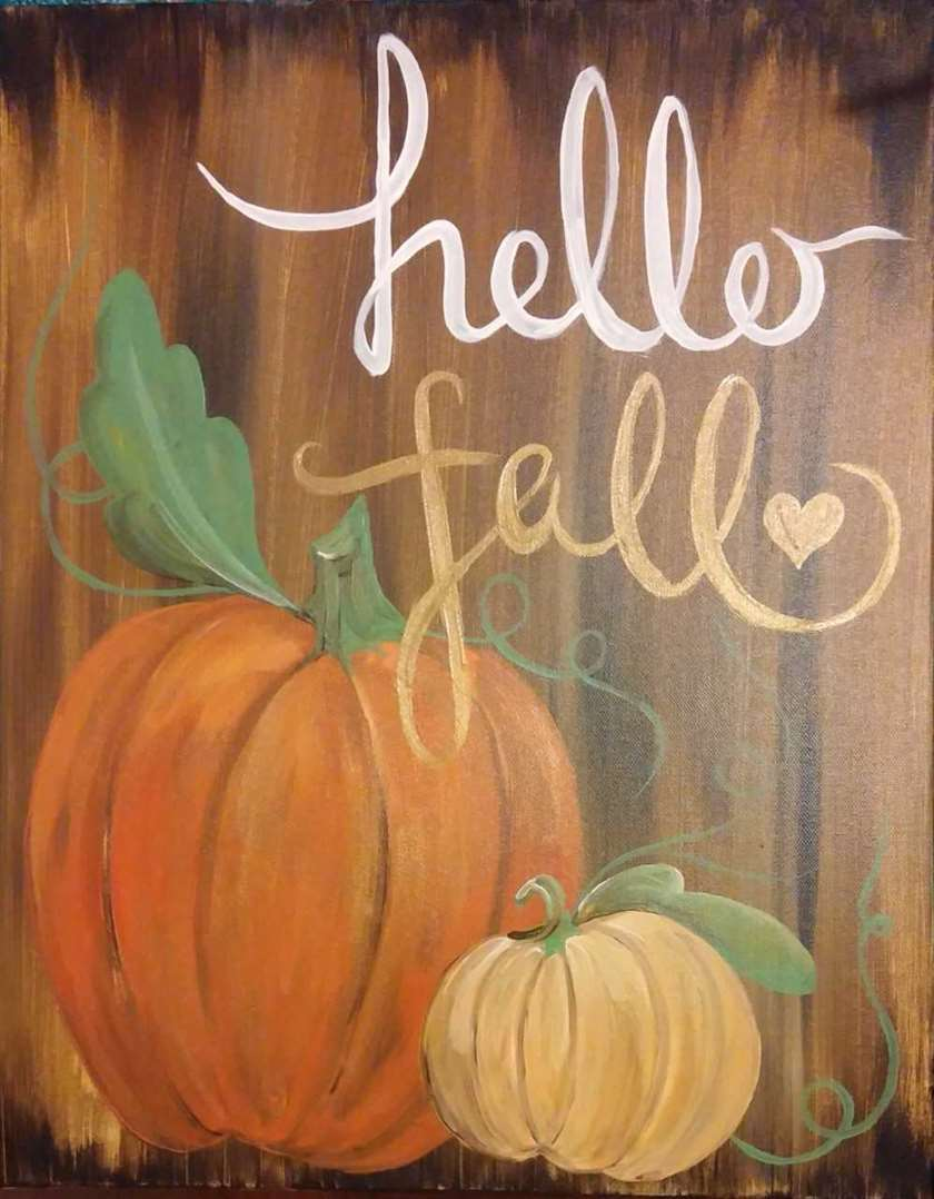 Hello Fall Pumpkins