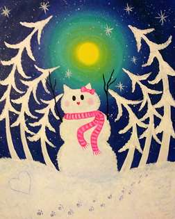 Hello Snow Kitty Forest