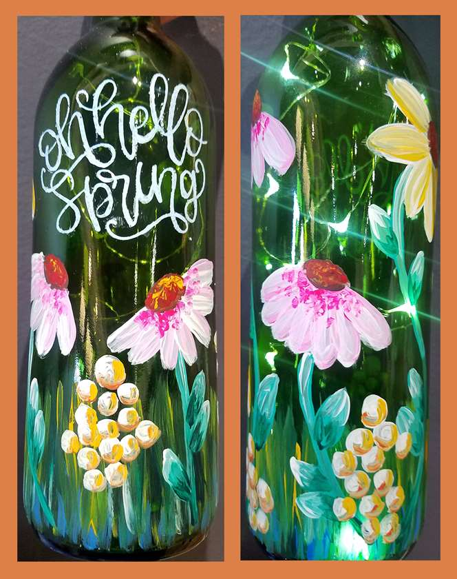 Hello, Spring Wine Bottle