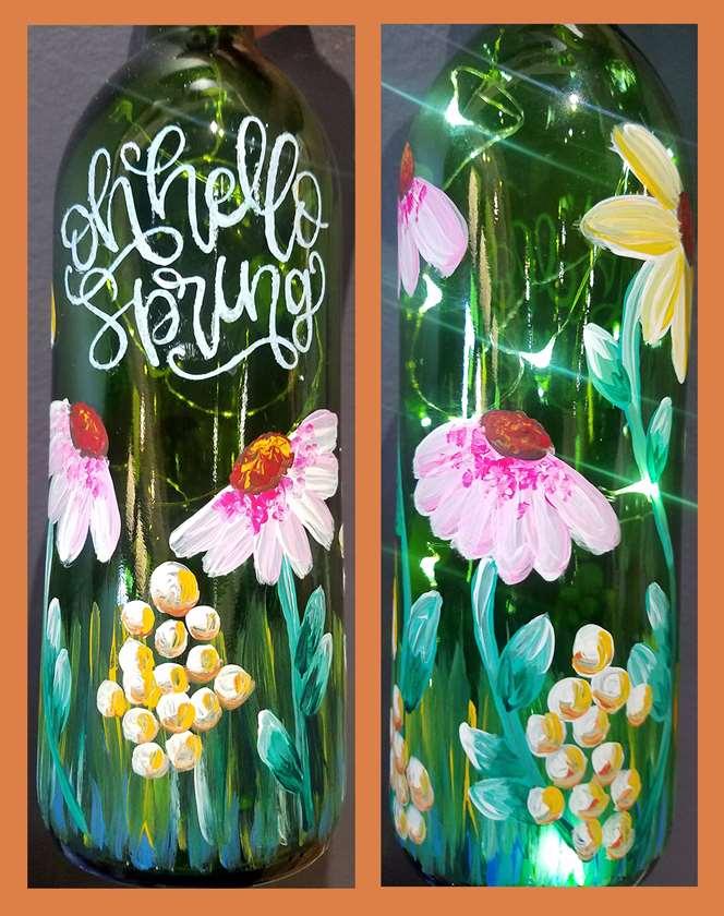 Hello, Spring Wine Bottle
