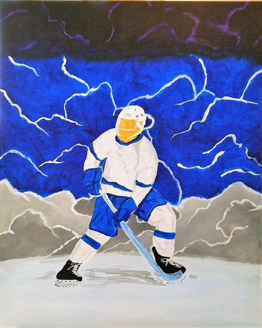 Father's Day ~ Painting Hockey - Sipping Beer!