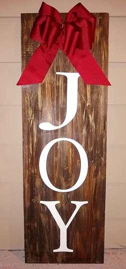 Joy Wood Porch Sign