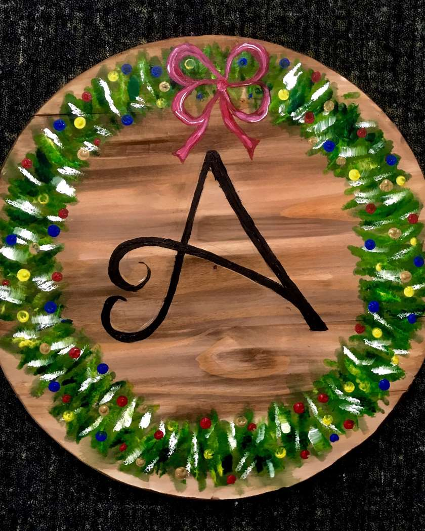 Holiday Monogram Barrel Head