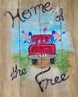 Home of the Free Wooden Pallet