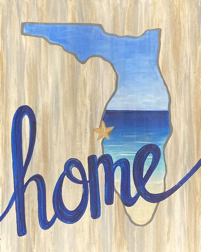 Home Sweet Beach - Wood Pallet