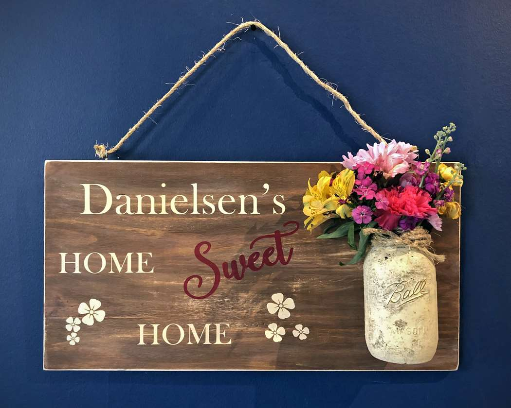 Home Sweet Home DIY Wooden Sign
