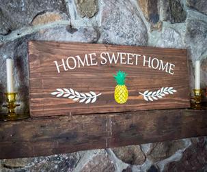 Home Sweet Home Wood Board
