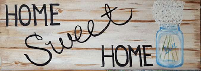 Home Sweet Sign 10x30