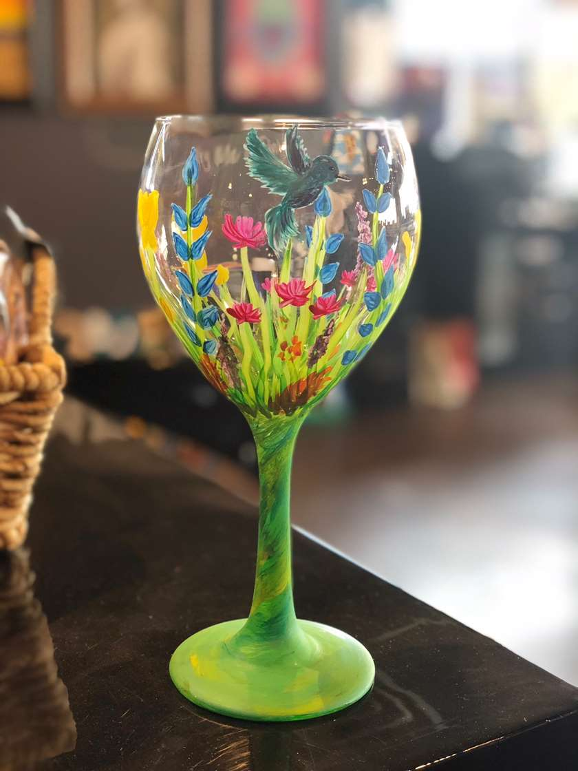 Happy Hour Wine Glass Painting!