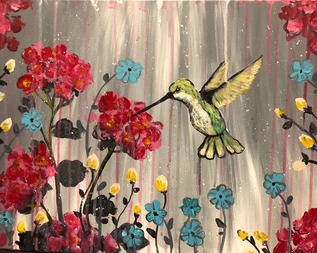 HUMMINGBIRD HEARTBEAT - CHOOSE YOUR CANVAS SIZE