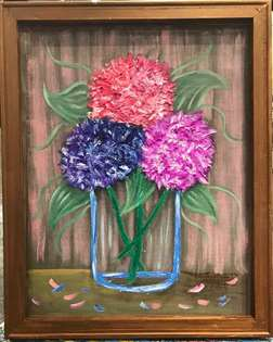 Hydrangea Bouquet Screen Art