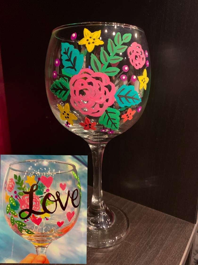 I LOVE wine, glass