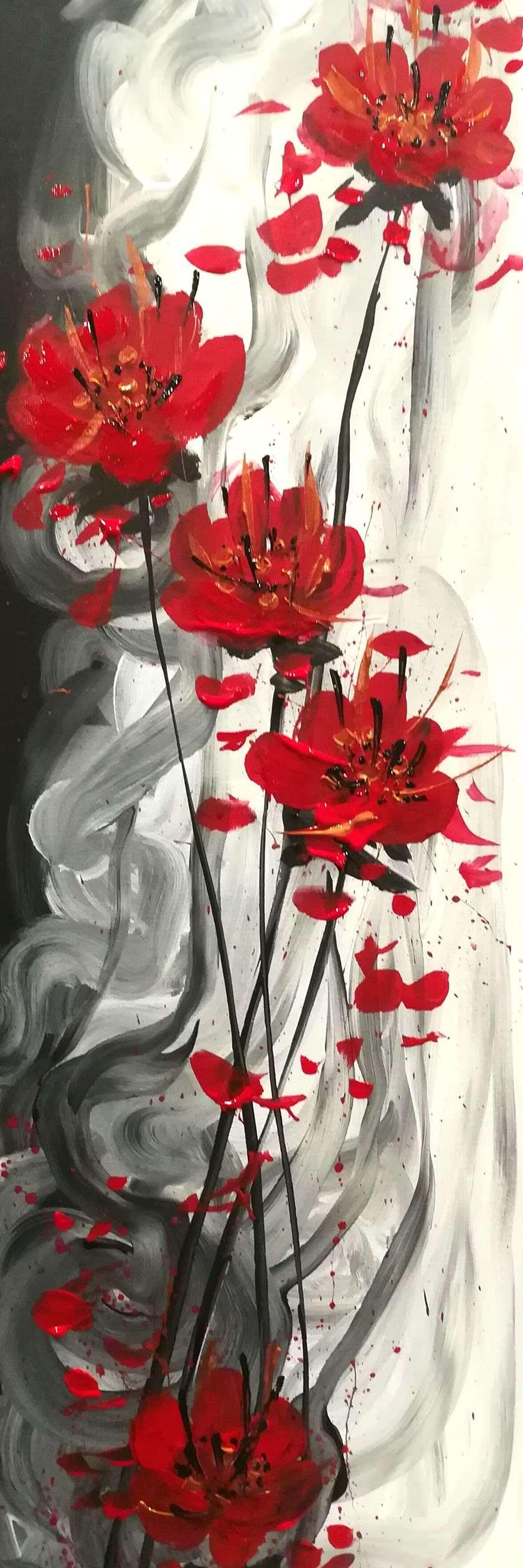 Ikebana Bliss - 10x30 canvas