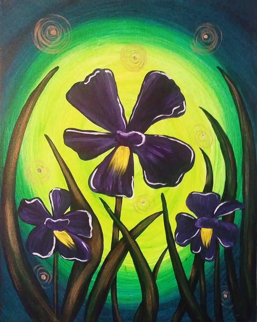 Irises and Fireflies