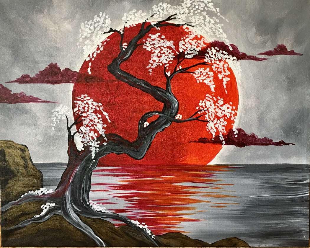 Japanese Crimson Moon