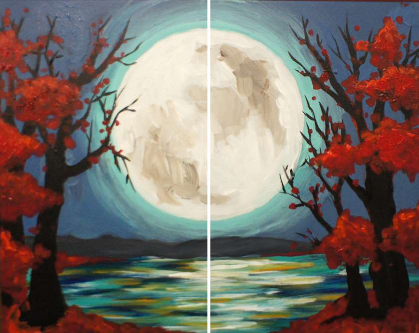 Japanese Moon Garden Date Night - In Studio Event - Limited Seating Available