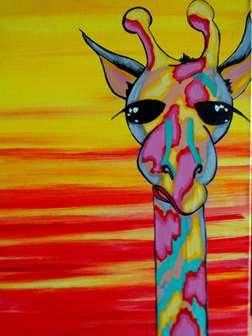 Jolly Giraffy at Dusk