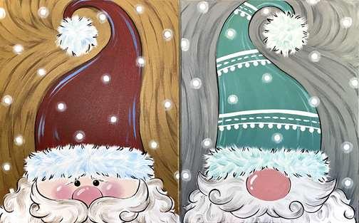 Jolly Peekaboo Santa and Gnome