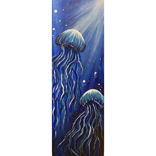 10 x 30 Canvas!  Jubilant Jellyfish
