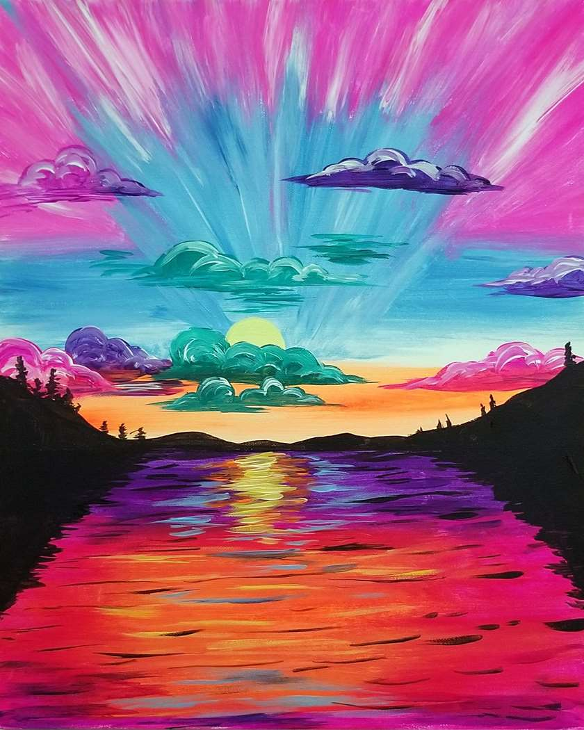 Kaleidoscopic Sunset