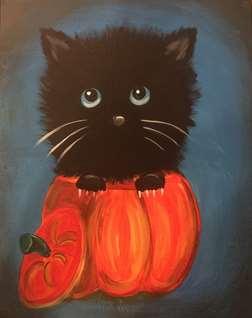 Kitten in the Pumpkin