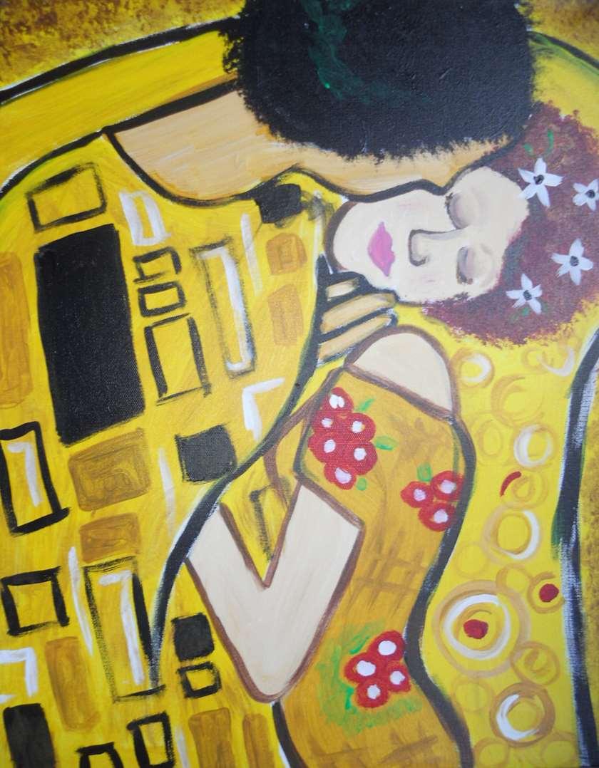 Masters Class!  Klimt's Kiss