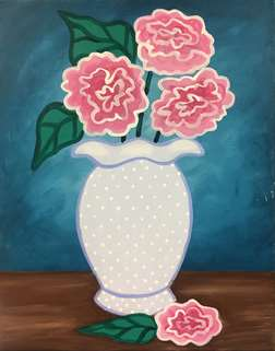 Lace Vase Blossoms